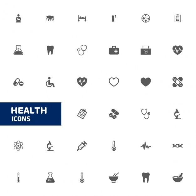Icône médicale ensemble Vecteur gratuit