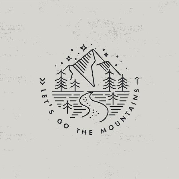 Icône De Menteur Ou Montagnes De Logo Vecteur Premium