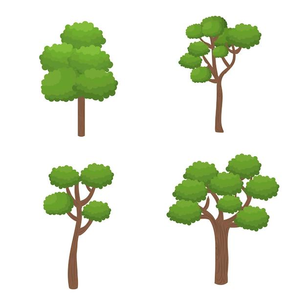 Icône de la nature des arbres forestiers Vecteur Premium