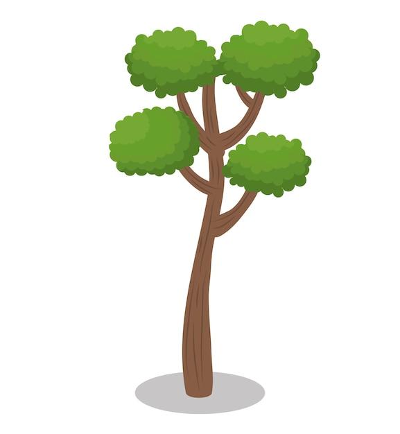 Icône de la nature de la forêt arbre Vecteur Premium