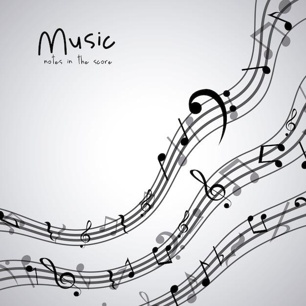 Icône de note de musique isolé Vecteur Premium