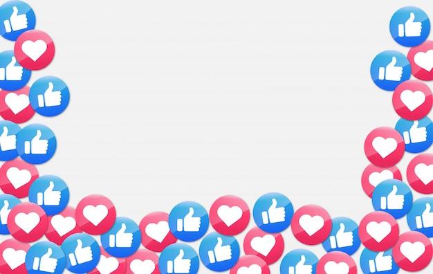 Icône De Notifications De Médias Sociaux. Icône J'aime Et Coeur. Vecteur Premium