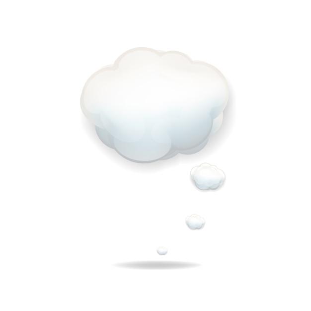 Icône Nuage Sur Fond Blanc Vecteur Premium