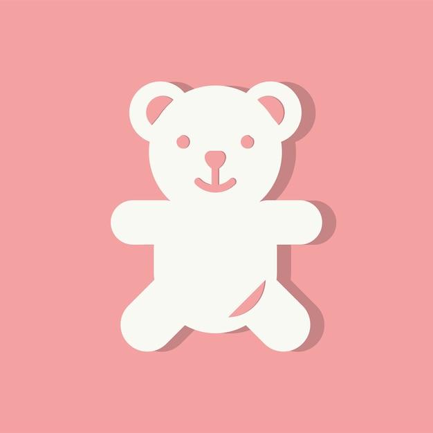 Icône De L'ours En Peluche Icône De La Saint Valentin Vecteur gratuit