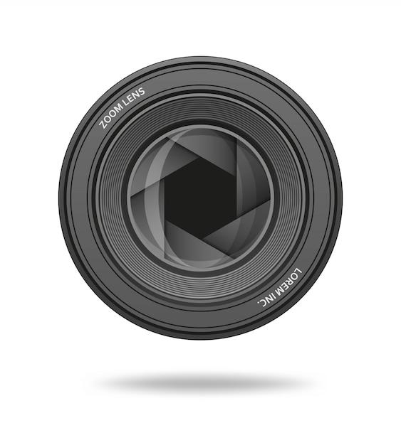 Icône D'ouverture. Rangée Du Diaphragme De L'objectif D'obturation De L'appareil Photo. Illustration. Vecteur Premium