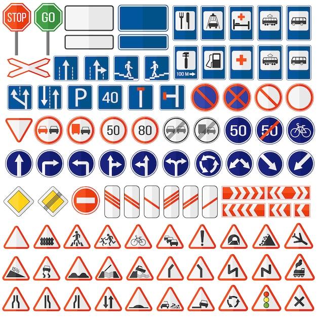 Icône De Panneau De Signalisation. Vecteur Premium