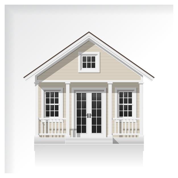 Icône de petite maison isolée sur fond blanc Vecteur Premium