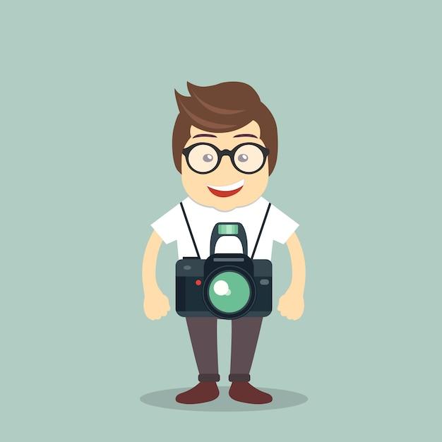 Icône de photographe Vecteur gratuit
