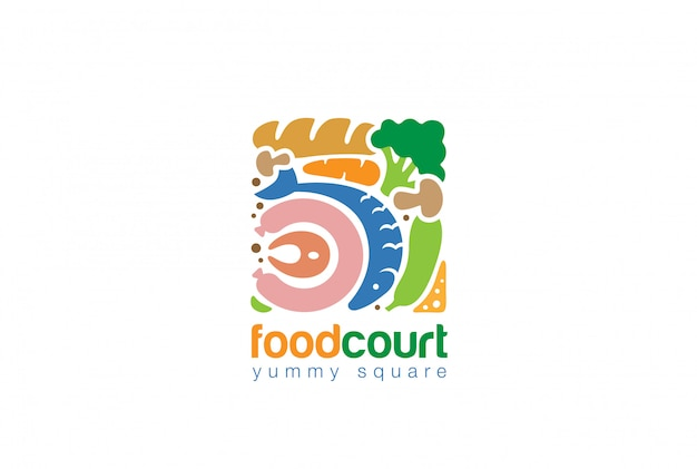 Icône Plate Du Logo Carré Vecteur gratuit