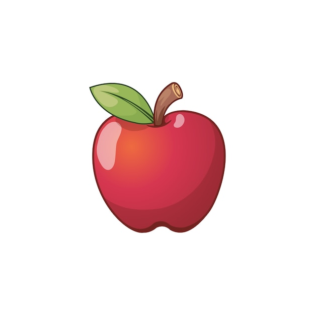 Icône De La Pomme Vecteur Premium