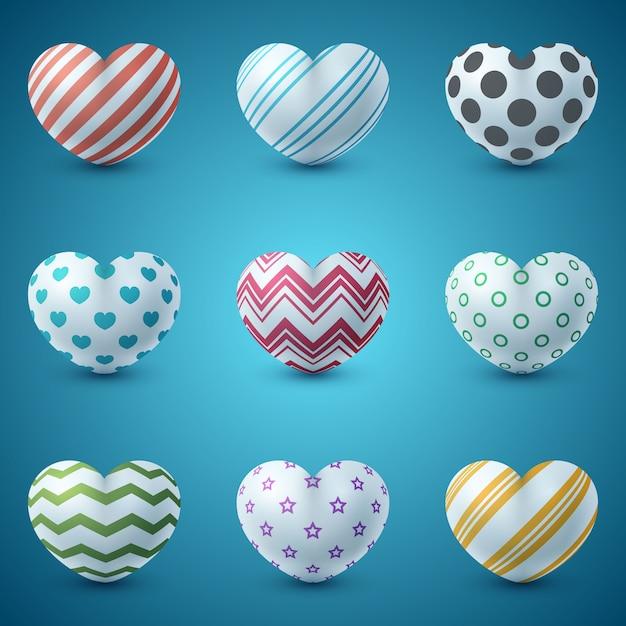 Icône réaliste d'amour et de coeur Vecteur Premium
