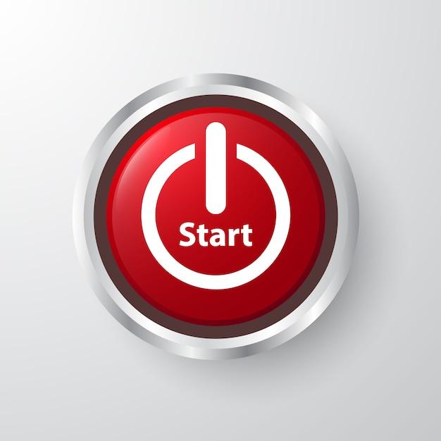 Icône red start 3d design Vecteur Premium