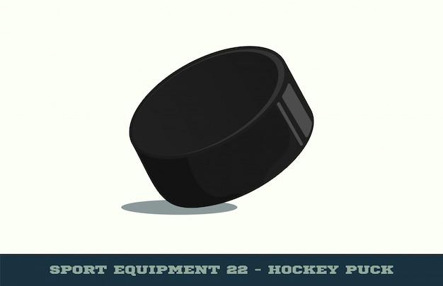 Icône de rondelle de hockey Vecteur Premium