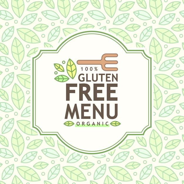 Icône sans gluten, signe sans gluten isolé sur fond blanc. Vecteur gratuit