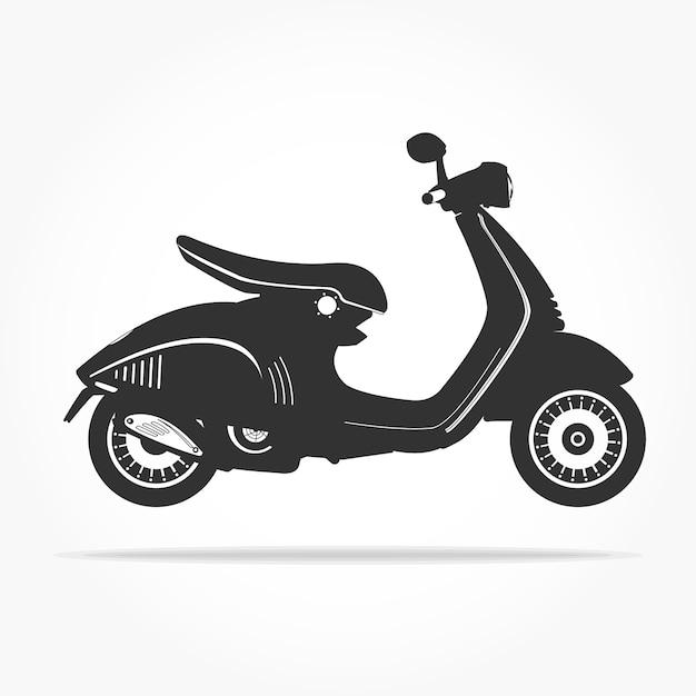 Icône de scooter flottant simple Vecteur Premium