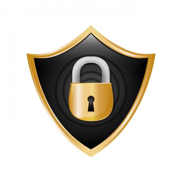 Icône de sécurité ou de sécurité Vecteur gratuit