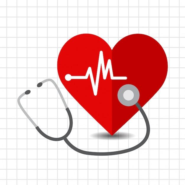 Icône de soins cardiaques Vecteur Premium