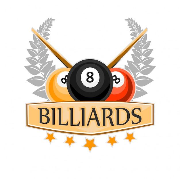 Icône de sport billard billard et snooker Vecteur Premium