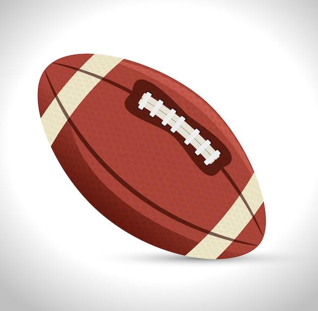 Icône De Sport De Football Américain Vecteur gratuit