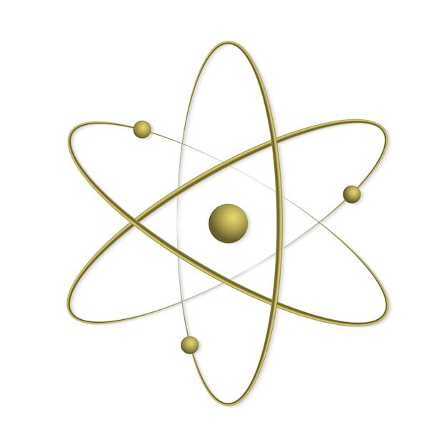 Icône De Symbole D'orbite Atomique. Vecteur Premium