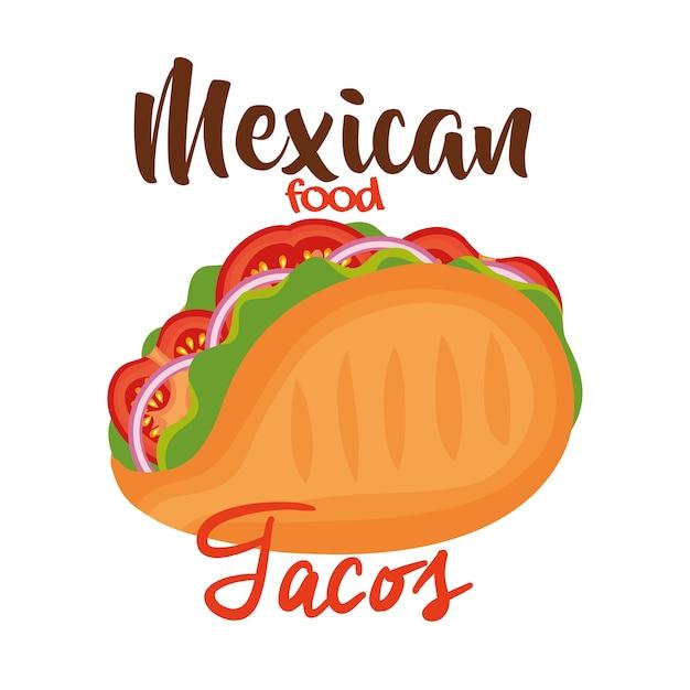 Icône de taco mexicain délicieux Vecteur Premium