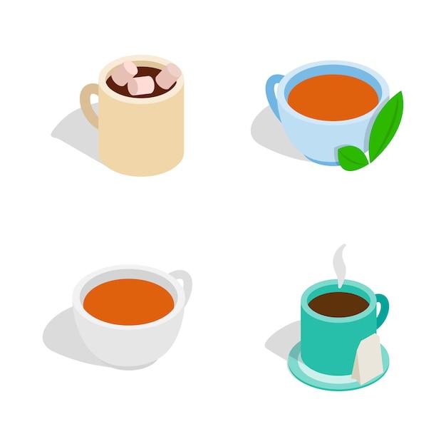 Icône de tasse de thé sur fond blanc Vecteur Premium