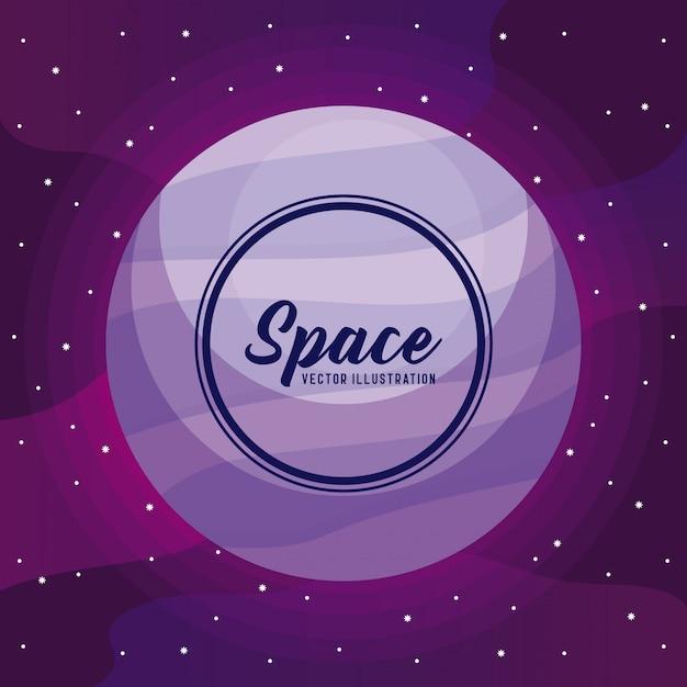 Icône de l'univers de l'espace Vecteur Premium