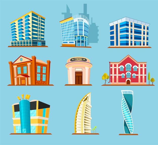 Icône De Vecteur De Construction De Bâtiments Divers Vecteur Premium