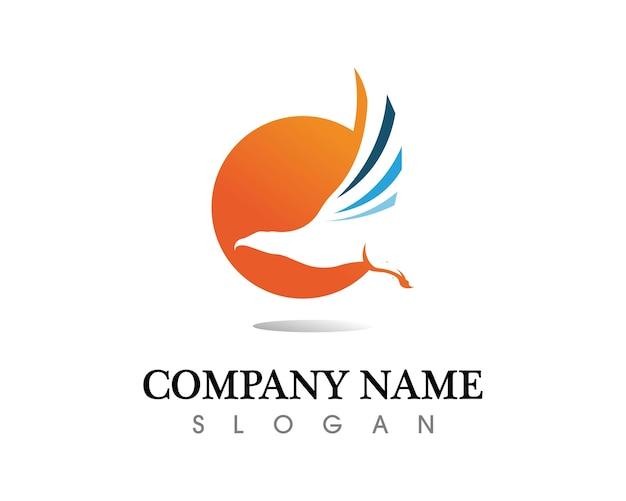 Icône de vecteur falcon eagle bird logo template Vecteur Premium
