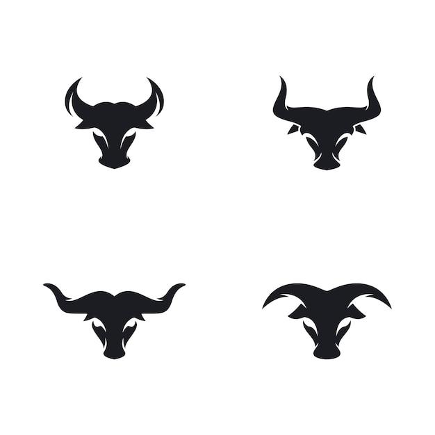 Icône De Vecteur Logo Tête De Taureau Vecteur Premium