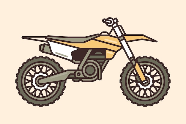 Icône de vélo de motocross Vecteur Premium