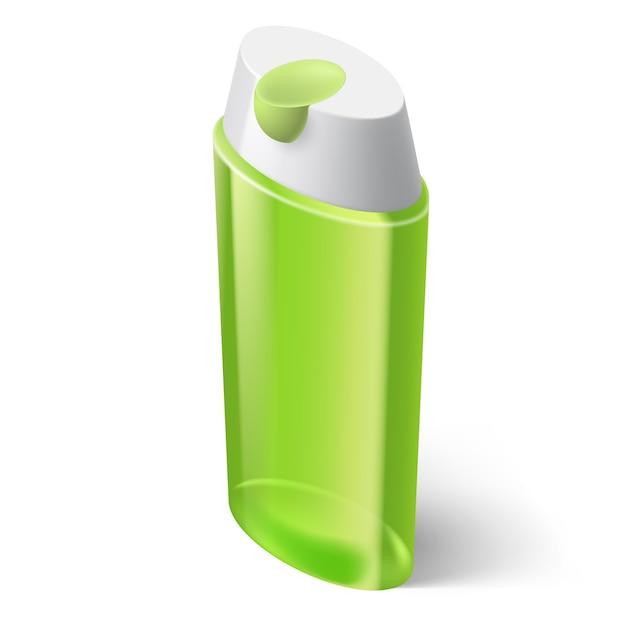 Icône Verte De Shampooing Dans Un Style Isométrique Sur Fond Blanc Vecteur Premium