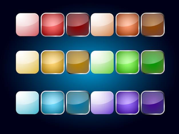 Icône vide de couleur populaire multiple pour application web Vecteur Premium