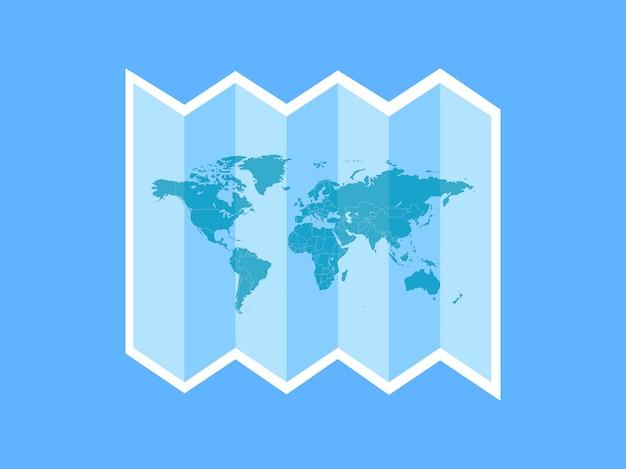 Une icône de voyage blanche à travers le monde Vecteur Premium