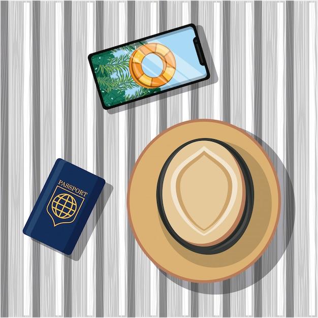 Icône De Voyage Et De Tourisme Vecteur gratuit