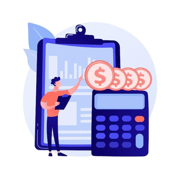Icône De Web De Dessin Animé De Bilan. Processus Comptable, Analyste Financier, Outils De Calcul. Idée De Conseil Financier. Service De Comptabilité. Vecteur gratuit
