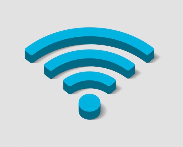 Icône Wi-fi Gratuit, Symbole De Connexion Wi-fi, Signal D'ondes Radio. Vecteur Premium