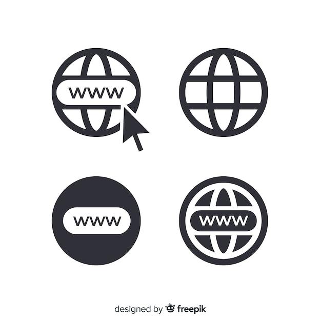 Icône www Vecteur gratuit