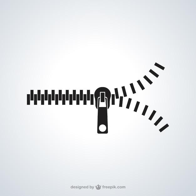 Icône zipper Vecteur gratuit
