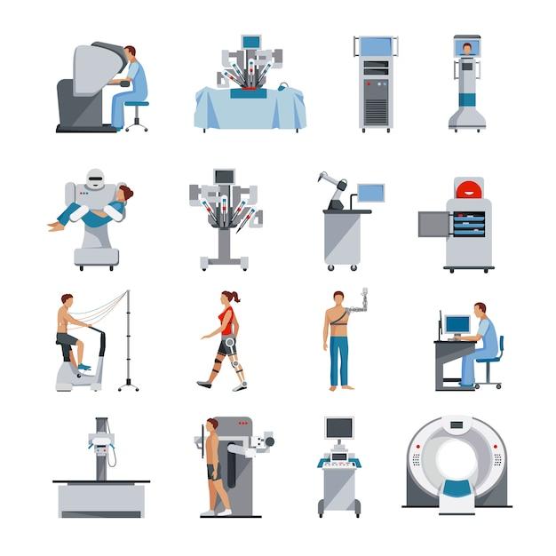 Icônes Bioniques Vecteur gratuit