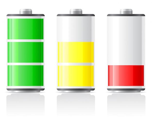 Les icônes chargent la batterie. Vecteur Premium