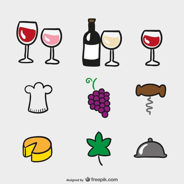 Ic nes de dessin anim de vin t l charger des vecteurs gratuitement - Verre de vin dessin ...