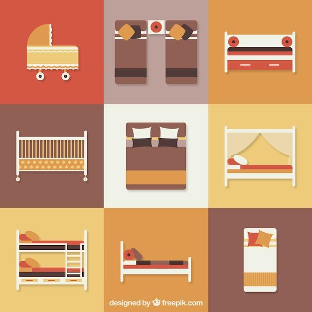 ic nes de lit t l charger des vecteurs gratuitement. Black Bedroom Furniture Sets. Home Design Ideas