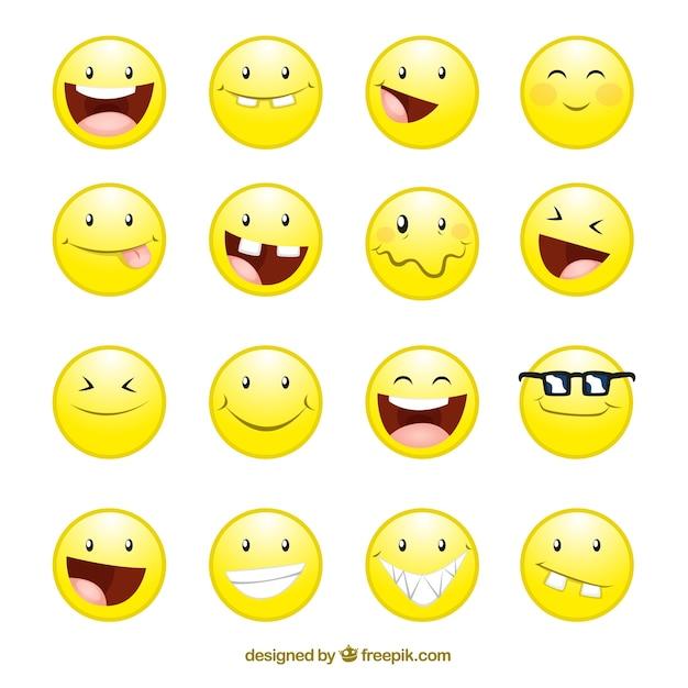 Ic nes de visages de sourire t l charger des vecteurs gratuitement - Image sourire gratuit ...