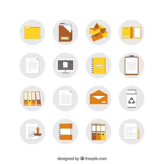 Icônes de documents Vecteur gratuit