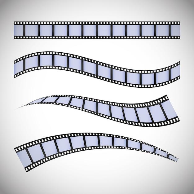 Icônes du cinéma et du cinéma Vecteur Premium
