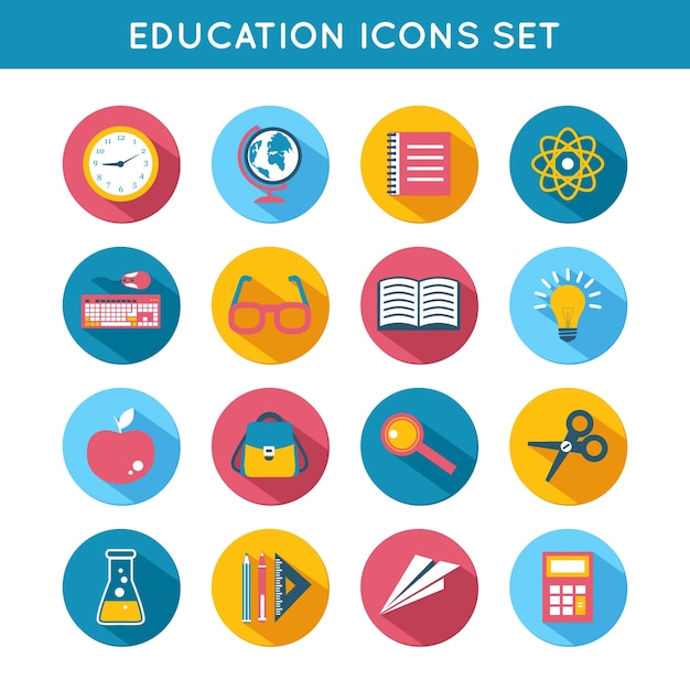 Les Icônes Sur L'éducation Vecteur gratuit