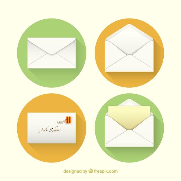 Icônes D'enveloppe Vecteur gratuit