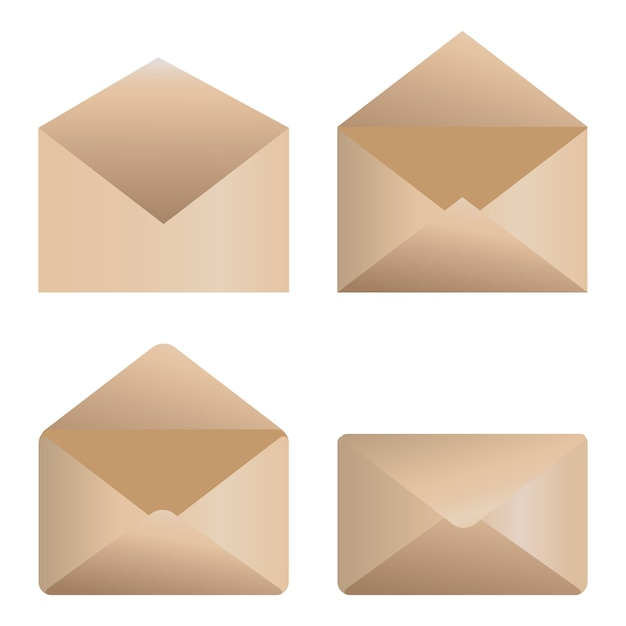 Icônes d'enveloppe Vecteur Premium