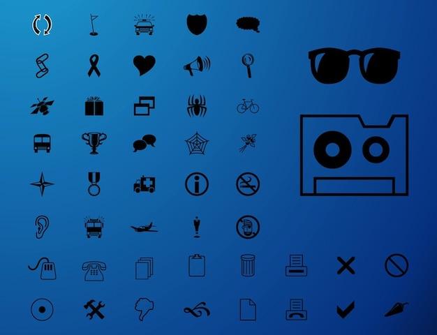 ic u00f4nes et symboles de couleur unie